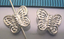 2x STERLING SILVER BUTTERFLY 9.8mm x 8.1mm SPACER BEAD #559