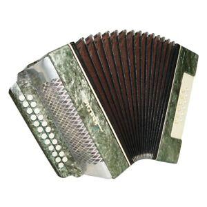 Folk Garmon Ukraine, Vintage Button Accordion Harmonica, 23x12 Squeezebox 1584