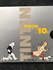 COFFRET BE 10 EURO TINTIN 2004 ARGENT - 75EME ANNIVERSAIRE DE TINTIN RARE !!!