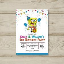 10 Personalised Childrens Birthday Party Invitations Spongebob Squarepants