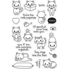 Hero Arts Poly Clear Stamp Set Purr Cat Kitten