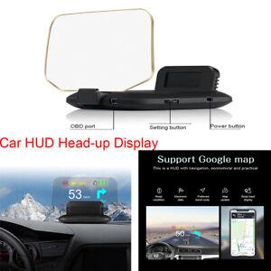 42 x 110 x 77MM OBD2 GPS Speedometer Speed Projector HUD Head-up Display Black