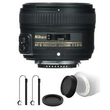 Nikon AF-S NIKKOR 50mm f/1.8G Lens with Accessory Kit For Nikon D7100 , D7200