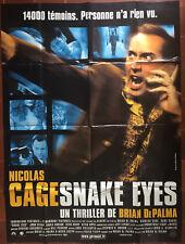 Poster Snake Eyes Brian de Palma Nicolas Cage Gary Sinise 47 3/16x63in