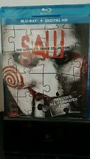 Saw: The Complete Movie Collection(Blu-ray Discs + HD Digital codes)NEW-Free S&H