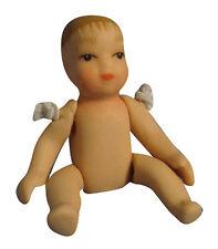 1:12th escala muñeca casa miniatura desvestidos Porcelana Bebé Vivero Accesorio 155