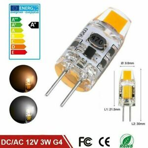 10x G4 COB LED AC DC 12V Bulb 1W 100LM White/Warm light Crystal Silicone Lamp ei