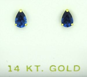 AAA Quality TANZANITE STUD EARRINGS 14K YELLOW GOLD ** New With Tag **