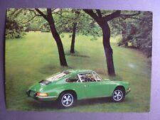 1970 / 1971 Porsche Green 911 Coupe Postcard Post Card RARE!! Awesome L@@K