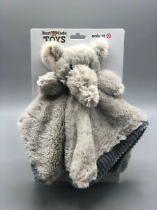 Baby Security Blanket Toy With Rattle - Bear or Elephant - Best Made Toys
