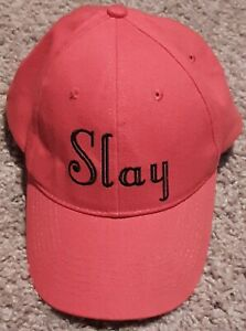 "MADDEN: Women's Red Cotton ""Slay"" Baseball Cap - One Size - NEW"