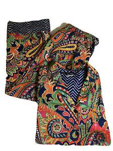 NWOT,Vera Bradley Cotton Pajama Set S Top M Pant 100% Cotton MultiColor Paisley