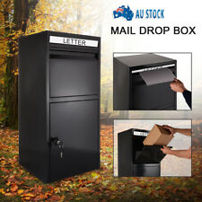 Black Parcel Delivery Letterbox Mail Drop Box Mailbox Post Monument