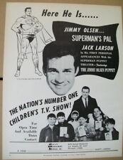 Jimmy Olsen Jack Larson 1962 Ad-  Superman Puppet Theater