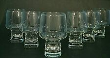 6 VtG MiD CENTURY CLEAR STREAMLiNE ATOMiC FOOTED 12oz COCKTAiL GLASSES TUMBLER