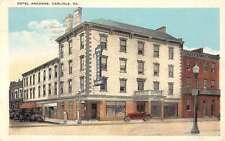 Carlisle Pennsylvania Hotel Argonne Street View Antique Postcard K63215