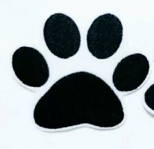 "Paw Print Patch Pet Cat Kitten Dog Puppy Iron On Applique 3.00"" X 2.75"""