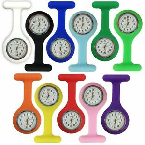 Silicone Nurse Watch Brooch Tunic Fob Nursing Nurses Pendant Pocket Watch