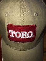EUC TORO Tan Cotton Strapback Baseball Cap Hat 100% Cotton Adjustable