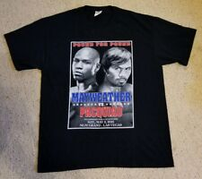 Floyd Mayweather Manny Pacquiao Pound For Pound Black L T-Shirt Championship