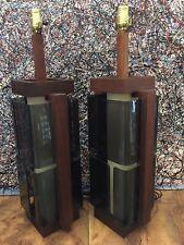 MODELINE MID CENTURY MODERN SMOKED PLEXI WALNUT 1960s CUBISM PATCHWORK POP ART
