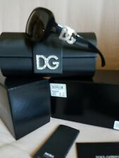 Authentic Women Dolce and Gabbana crystal DG sunglasses new with box Authentic