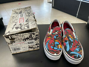 Vans Spider-Man Marvel Classic Slip-on Limited Edition NEW! US MEN'S 11