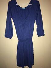 Tori Richard Women's Blue Dress Honolulu Size XXS Scoop Neckline Made In Hawaii