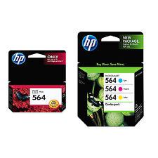 4 Pack Genuine HP 564 Set Ink Cartridges Photo Black Cyan Magenta Yellow D7560
