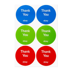 """3-Color, Round eBay-Branded Thank You Sticker Multi-Pack 3"""" x 3"""""""