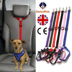 Pet Dog Seat Belt Lead Clips Safety Harness Restraint Car Van Journey Travel UK