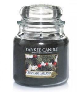 Yankee Candle Medium Jar Christmas Garland, Rare HTF