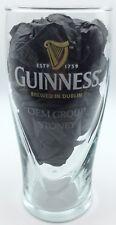 """RARE 20 oz Guinness Pint Bar Glass Gold Harp Logo & """"OEM GROUP STONEY"""" on Front"""
