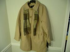 Brand New London Fog women's size 2X oatmeal heather beige coat scarf trench NWT