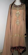 Ladies NEW splendid gown style kameez kamiz with Swarovski crystals size Medium