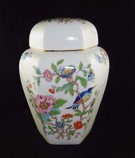 """Vintage Aynsley Bone China ''PEMBROKE"""" Ginger Jar with Lid"""