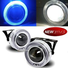 "For Challenger 3"" Blue Halo Projector Bumper Driving Fog Light Lamp Kit Set"