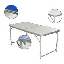 Portable 4FT Multipurpose Folding Table For Outdoor Picnic BBQ Height Adjustable