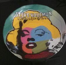 RARE-Original Steve Kaufman Marilyn Series-Marilyn Monroe-Framed Ceramic Plate
