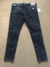 "REPLAY ANBASS Men's Stretch Slim Fit Black Jeans, Size W36"", L32"", £145"