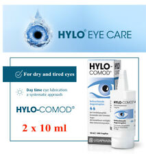 HYLO-COMOD® lubricating eye drops 2x10ml-LONG-LASTING&EFFICIENT help for dry eye