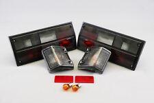 VW Transporter T3 T25 79-92 Black Rear Tail Lights Front Indicators Pair Set
