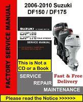 Suzuki DF150 DF175 Outboard Service Repair Manual 2006-2010 plus Parts Manual