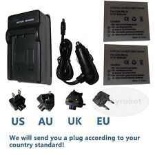 2X Battery + charger for Canon NB-4L IXUS 110 115 117 120 130 iS,220 230 255 HS