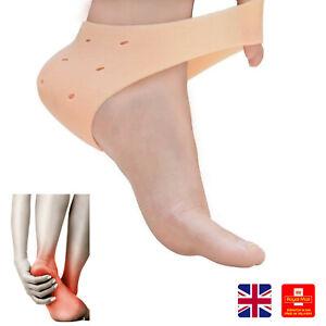 1xPair Silicone Gel Heel Protector Pain Relief Sleeve Cushion Plantar Fasciitis