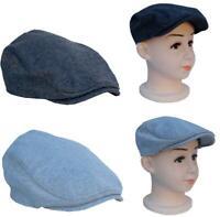 Cool4 Herbst Winter Kinder Schiebermütze Flatcap Vintage Kappe Cap E38