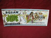 Vintage Squaw Brand Advertising Paper label #2