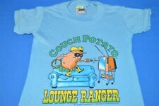 vintage 80s Couch Potato Lounge Ranger Lone Spoof Blue t-shirt Youth Kids 4