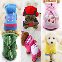 Pet Dog Clothes Puppy Cat Sweater Hoodie Coat Jacket Winter Warm Costume Apparel