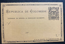 Mint Colombia Postal Stationery Reply Postcard